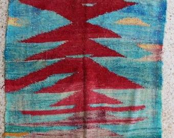 "210X114  cm ( 6.9"" x 3.7"") FREE SHIPPING worldwide KC27736 vintage berber kilim rug, flat rug, moroccan rugs , rag rug,morocco carpets"