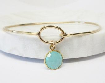Gold Charm Bracelet - Bangle - Charm Bracelet - Charm Bangle - Gold Bracelet