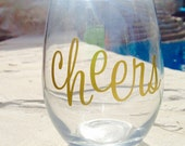 Personalized Stemless Wine Glass, Monogrammed Stemless Wine Glass, Wine Glass