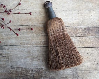 Vintage Primitive Whisk Broom, Straw Broom