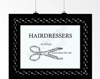 Beauty salon art etsy for A cut above the rest salon