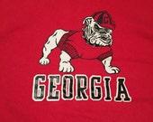Vintage Georgia Bulldogs Crew Neck Sweatshirt