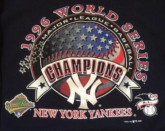 Vintage New York Yankees 1996 World Series Champions Crew Neck Sweatshirt