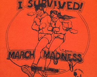 "Vintage ""I Survived March Madness"" Running T-Shirt"