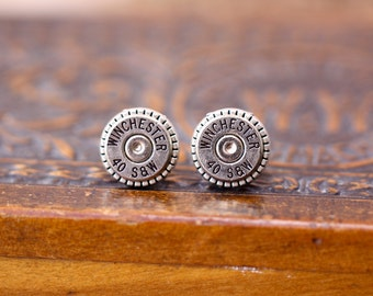 Choice 40 SW Stud Bullet Earrings-Winchester 40 SW Earrings-Federal 40 S W Post Earrings-Hornady 40 SW Earrings-Blazer Speer 40 Sw Earrings