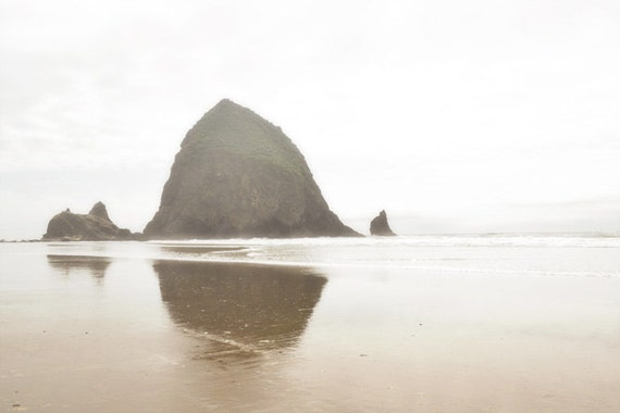 Beach Photography Print 12x18 Fine Art Oregon Pacific Northwest Cannon Beach Haystack Rock Spring Landscape Photography Print.