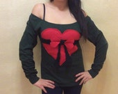 Valentines Day Geeky Heart Long Sleeve T Shirt - Size S-M-L and XL