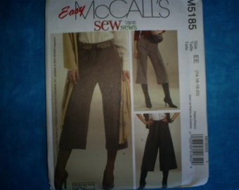 McCalls 5185 Misses Size 14-16-18-20.