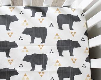 Bear Crib Sheet - Organic Crib Sheet