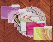 Mini File Folders, Marbled Colors, Embellishments, Scrapbooking, Cards, Miniature, Journals, Smash Books - 6 Pcs