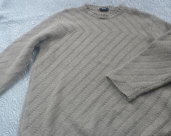 SALE 50% off Italian made Hugo Boss wool sweater beige XL