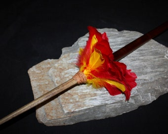 "Koa Spear 43"" w/ Marlin Bill - Red/Yellow Feathers 