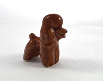 Miniature Poodle . Porcelain . Dollhouse Size . Figurine