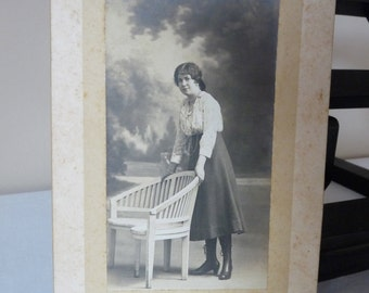Shabby Chic - French Antique Photograph - Shabby french Photo - French old Sepia Photo - French Antique Picture - French Woman 1900s