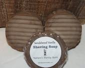 SALE Sandalwood Vanilla Round Shaving Shave Puck Soap