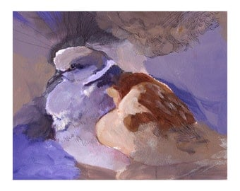 Dove Art Print - Amethyst Dove Art - Bird Painting - Purple Bird