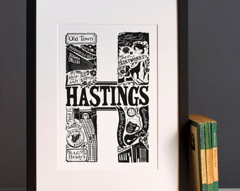 Hastings print or greeting card