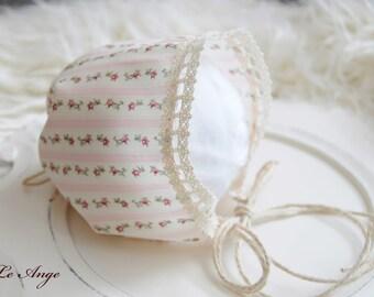 newborn bonnet, vintage style bonnet-newborn photography prop