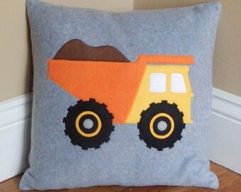 Dump Truck Pillow