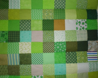 Crazy Green Patchwork Quilt