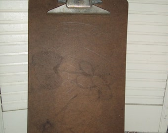 vintage LEGAL Size clipboard, industrial office supply Buill, craft projects
