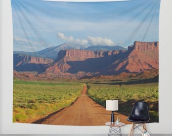 Wall Tapestry, Southwest Nature Wall Tapestry, Four Corners Decor, Scenic Tapestry, Large Wall Art, Desert Photography