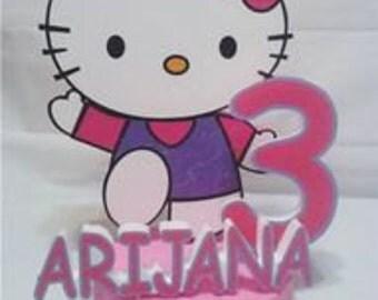 Hello kitty birthday party cake topper -PS