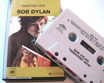Bob Dylan 1970s CBS Music Audio Cassette Tape - Greatest Hits - Made in Holland - Rare Vintage - New