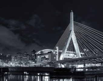 Photograph of the Zakim Bridge in Boston