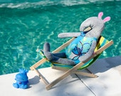 Summer set for little creatures - swimsuit,swimbelt and arm floats