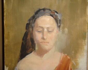 Oil Painting Portrait Woman Canvas