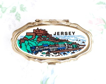 Vintage Pill Box - Small Medicine Box - Souvenir From Jersey