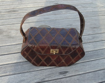 Patchwork leather purse