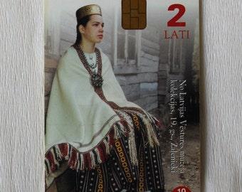 Telecard Chipcard Latvia. Zemgale. 1999 Lattelecom company. Telephone card, Phone card, Scrapbooking, Supplies, Collection