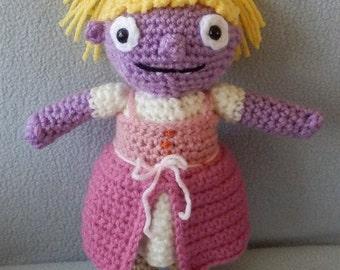 Made to order, Hand crocheted Wallykazam Similar Gina the Giant like Rag Doll Amigurumi Doll