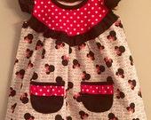 Disney Minnie Mouse Opal Tunic w/ Pockets Big Girl Sizes