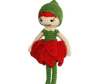 Crochet Pattern-- Blossom Pixie Doll --Crochet Pattern