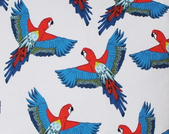 Parrot Fabric - upholstery fabric - curtain fabric - bird fabric - tropicl fabric - parrot - cotton fabric - fabric by the yard -