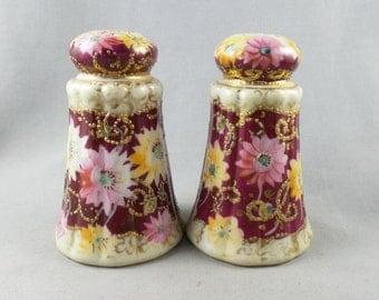 Vintage Royal Nippon Shabby Chic Ceramic Salt and Pepper Shaker Set
