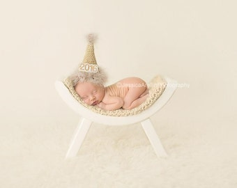 Crochet NEWBORN New Year's  Party Hat Photography Prop
