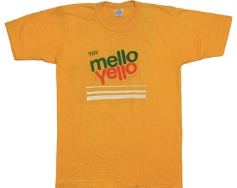 Try Mello Yello Soda 1970s t Shirt Vintage 70s Citrus Flavored Pop tee