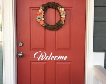 Welcome Decal Sign