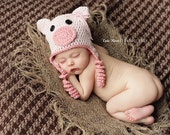 Pink Piggy Newborn and 0-3 Months Crochet Pattern ONLY, INSTANT DOWNLOAD