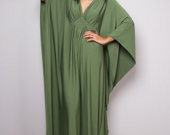 Maxi Dress - Kimono Butterfly Green Maxi Dress : Funky Elegant Collection No.1s