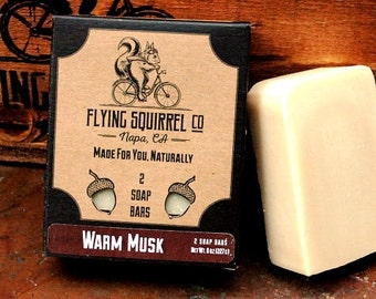 2-Pack Warm Musk Natural Soap - Item# CPS_WMUSK_01