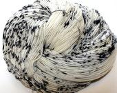 Superwash Merino Fingering Speckled Yarn hand-dyed in USA knitting or crochet yarn