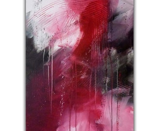 "Original Abstract Acrylic Fine Art Painting, 24 x 36 Gallery Wrap Canvas, ""Passover"", FREE Shipping"