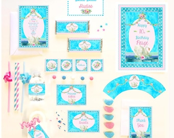 SWAN PARTY COLLECTION ~ Personalized Printable Download