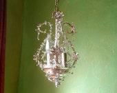 """50% OFF - Chandelier Lighting, Woodland Ice Fairy, One of a Kind, 14""""h. x 8""""w."""