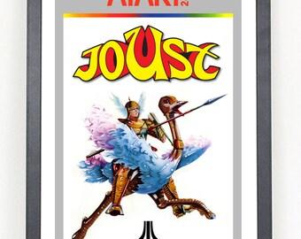 Joust Atari Video Game reproduction poster print